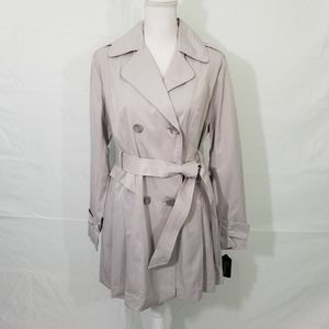 Guess Light Gray Double Breasted Trench Coat